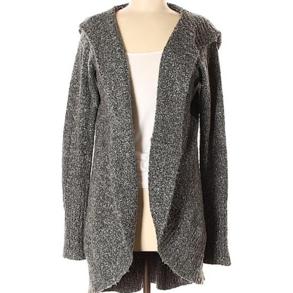Kensie grey long hooded cardigan small